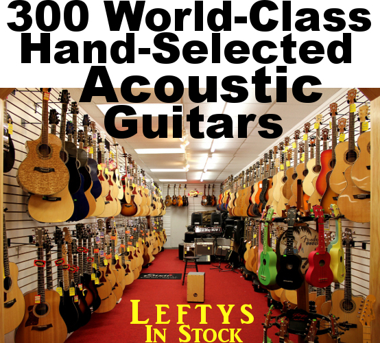 Dr. Guitar Music's Meganormous Selection of Acoustic Guitars For Sale