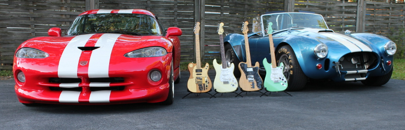 Dodge Viper and Shelby Cobra with Guitar collection