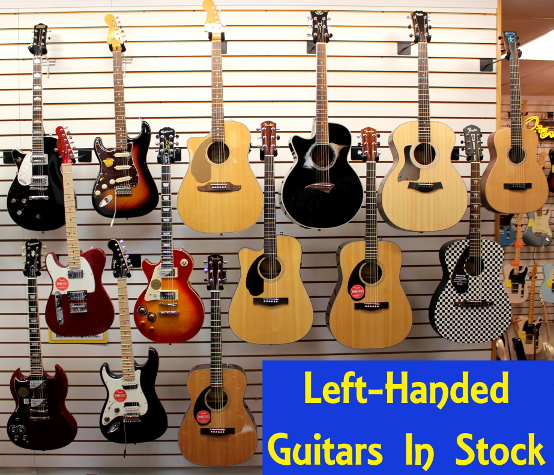 Left Handed Guitars are in Stock at Dr. Guitar Music!